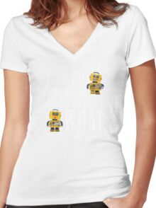 I Love working the nightshift - what day do we have Women's Fitted V-Neck T-Shirt