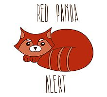 Red panda alert Photographic Print