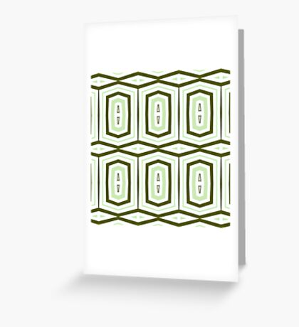 Weave It Green With Shapes Greeting Card