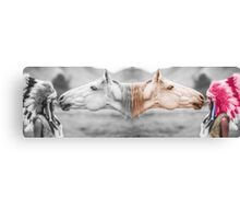 One Horse & One Indian Canvas Print
