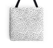 Watercolour Dashes - black and white Tote Bag