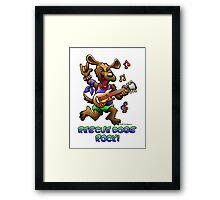 RESCUE DOGS ROCK! Framed Print