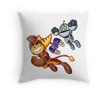 Ratchet and clank Throw Pillow