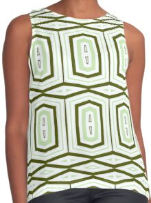 Weave It Green With Shapes Contrast Tank