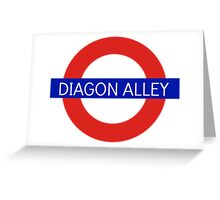 Diagon Alley Station - Harry Potter Greeting Card