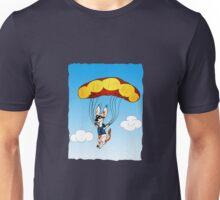 Fallschirmspringer Hund Unisex T-Shirt