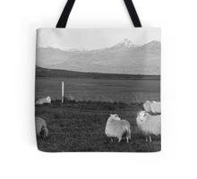 Icelandic Sheep in black & white Tote Bag