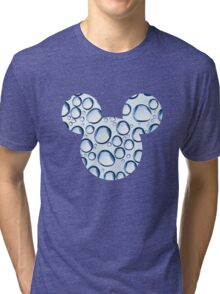 Mouse Water Bubble Patterned Silhouette Tri-blend T-Shirt