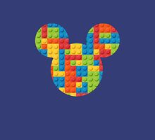 Mouse Lego Brick Patterned Silhouette Unisex T-Shirt