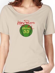 """""""Charros 55 Baseball"""" Kenny Powers #1 Women's Relaxed Fit T-Shirt"""