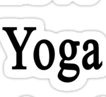 We Love Our Yoga Instructor  Sticker