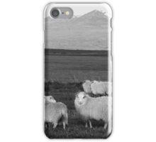 Icelandic Sheep in black & white iPhone Case/Skin