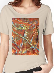 Fire Dancing Abstract Women's Relaxed Fit T-Shirt