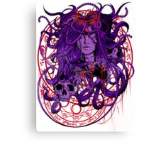 Heartless Purplered Canvas Print