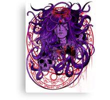 Heartless Purplered Canvas Print