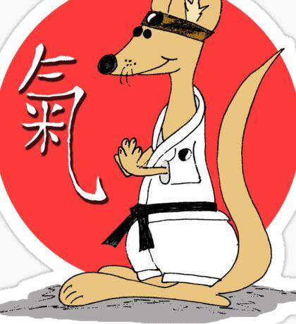 Karate Kämpfer Chi Sticker
