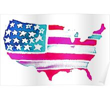 Watercolor United States of America Poster