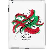 Clan Kerr - Prefer your gift on Black/White tell us at info@tangledtartan.com  iPad Case/Skin