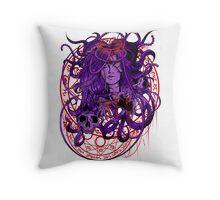 Heartless Purplered Throw Pillow