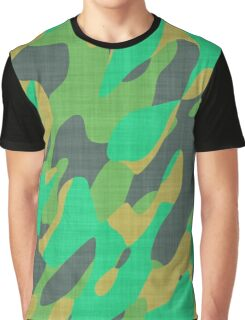 orange and green camo abstract Graphic T-Shirt