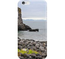 Sand beach with black voulcanic rocks in Iceland near Budir - small town on Snaefellsnes peninsula iPhone Case/Skin