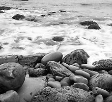 Black and white stone coast by Stanciuc