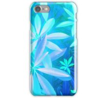 Tropical neon foliage print iPhone Case/Skin