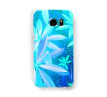 Tropical neon foliage print Samsung Galaxy Case/Skin