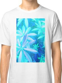Tropical neon foliage print Classic T-Shirt