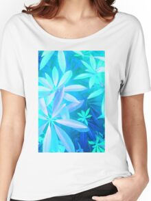 Tropical neon foliage print Women's Relaxed Fit T-Shirt