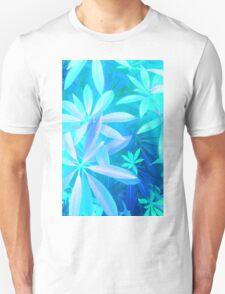 Tropical neon foliage print Unisex T-Shirt