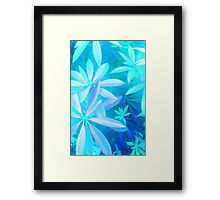 Tropical neon foliage print Framed Print