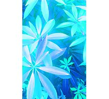 Tropical neon foliage print Photographic Print