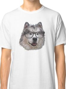 Alaskan Dog with Glasses Classic T-Shirt