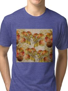 French Cretonne with Apples and Lime Trees Pattern Tri-blend T-Shirt