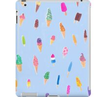 Blue Ice-Cream Pattern iPad Case/Skin