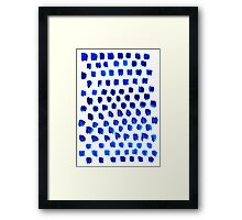 abstract blue dots pattern Framed Print