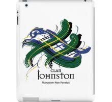 Clan Johnston - Prefer your gift on Black/White tell us at info@tangledtartan.com    iPad Case/Skin