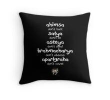 The Yamas #1 Throw Pillow
