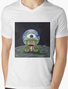 Alien Moon Landing Mens V-Neck T-Shirt