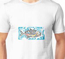Giant Trevally Side Tribal Art Unisex T-Shirt