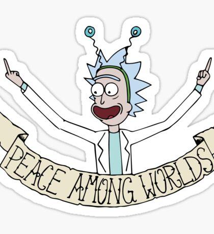 Peace Among Worlds Sticker