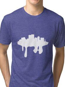 melting city- white Tri-blend T-Shirt