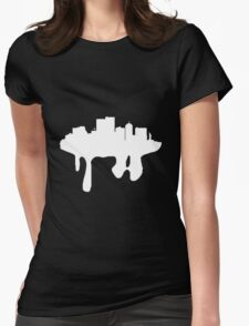 melting city- white Womens Fitted T-Shirt
