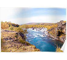 Hraunfossar waterfall, Iceland Poster