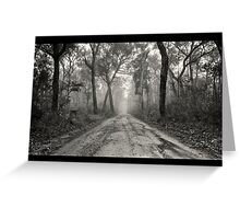 ~ a foggy beginning ~ Greeting Card