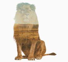 Double Exposure Lion Kids Tee