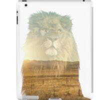 Double Exposure Lion iPad Case/Skin