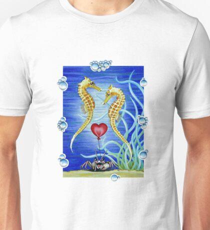 SEAHORSES IN LOVE Unisex T-Shirt