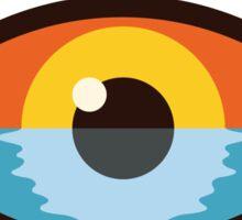 """Sunreyes"" over the sea Sticker"
